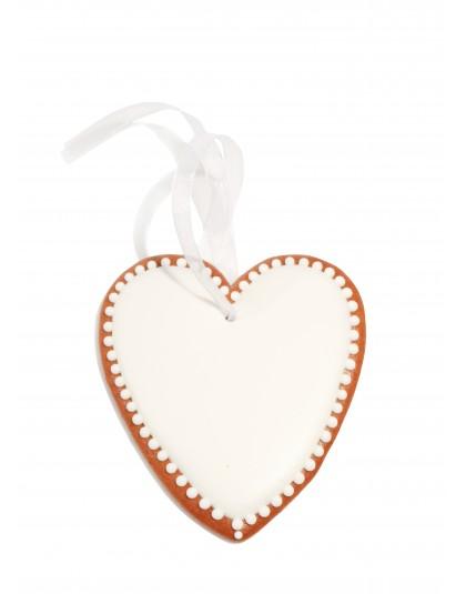 Piernikowa zawieszka- serce lukrowane